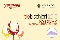 """Monday 21st of March we will be in Sydney, at the La Rosa Wine Bar & Osteria, for another date of the road tasting """"Tre Bicchieri 2016"""". An unique event to show to Australia the best Italian wines, including our #RoggioDelFilare! #WorldWine #vinipiceni #trebicchieri2016 #sidney #winelovers"""