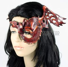 Made in USA Leather Mask Masquerade Dragon Costume Game of Thrones Khaleesi New | eBay