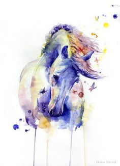 Watercolor painting by Elena Shved. Check http://vk.com/art_tendencies for more similar artworks.