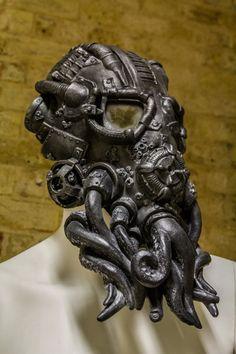 Cthulhu Mask steampunk full head Cthulhu mask by Ministryofmasks