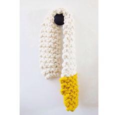 Repost from @lloydtoldgeorge - chunky knit scarf made with Loopy Mango Big Loop Yarn loopymango.com