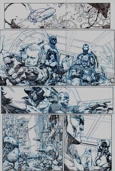 I love seeing the raw pencils. Jerome Opena is one of the top artists Marvel has right now.