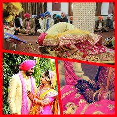 Indian Punjabi Sikh wedding Punjab bride  n bridegroom
