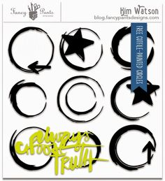 FREE cutfile: Painted Circles & published layout.