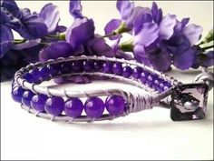 Purple beaed bracelet
