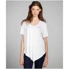 French-Fashion-White-V-Neck-Women-T-Shirt-4.jpg (1090×1090)