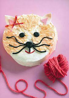 Cat cake...I like the ball of yarn!