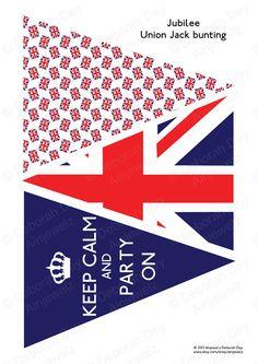 Digital Download  Jubilee Union Jack Bunting Garland by Ainjewelz on etsy