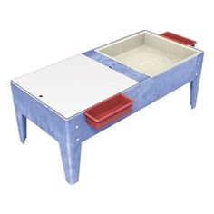 ChildBrite Toddler Double Mite Sensory Table w/ Mega Trays https://www.schooloutfitters.com/catalog/product_info/pfam_id/PFAM1305/products_id/PRO4178