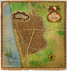 Robert Jordan Wheel of Time The Thirteenth Depository - A Wheel of Time Blog: The Dragon Reborn Read-through #8: A Map of the City of Tear