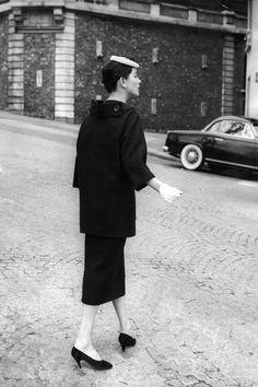 1955  In Photos: Vintage Paris Street Style  - HarpersBAZAAR.com