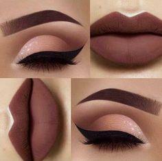 Gorgeous Makeup: Tips and Tricks With Eye Makeup and Eyeshadow – Makeup Design Ideas Cute Makeup, Gorgeous Makeup, Pretty Makeup, Casual Makeup, Sleek Makeup, Skin Makeup, Eyeshadow Makeup, Eyeshadows, Lipsticks