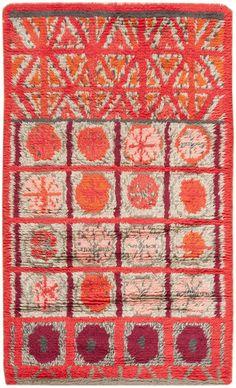 vintage swedish rya rug from nazmiyal
