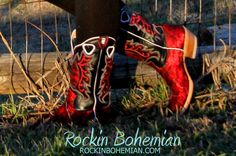 Red Lace Rockin Bohemian Boots