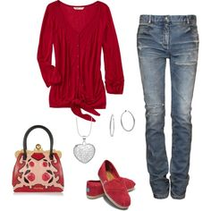 Red, created by lanakluke on Polyvore
