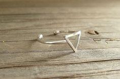 925 Silberring Dreieck