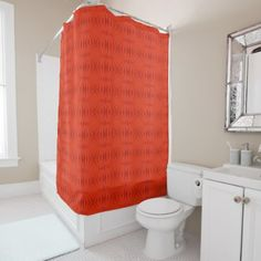 Red Gerbera Abstract Shower Curtain