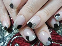 Image shared by Find images and videos about nails, nail art and nail design on We Heart It - the app to get lost in what you love. Love Nails, Pretty Nails, Fun Nails, Brown Nails, Black Nails, French Nails, Nail Polish Designs, Nail Art Designs, Manicure And Pedicure