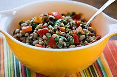 NYT Cooking: A southerner would scoff at this dish, which contains no ham hocks or salt pork. The vibrant salad, which I like to serve warm, makes it very clear that those ingredients are not essential for great black-eyed peas. Black Eyed Pea Salad, Black Eyed Peas, Pea Salad Recipes, Salt Pork, Vegetarian Recipes, Cooking Recipes, Main Dish Salads, Vegetable Dishes, Plant Based Recipes