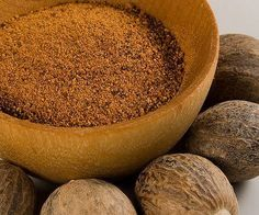 *HERB OR SPICE OF THE DAY*  NUTMEG...the seed of the nutmeg tree, has a sweet flavor and highly spicy and sold whole or ground. USES: sprinkle on milk, eggnogs, hot chocolate, apple pie filling or crust, on chicken or cream soups, French toast, whipped cream or on broiled chicken or fish. Whole must be grated and yields about 3 tablespoons per nut. Has great health benefits. ♥