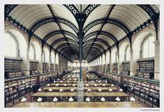 Henri Labrouste. Bibliotheque Ste. Genevieve. Paris. 1842-50 #architecture