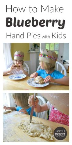 An easy recipe for blueberry hand pies... (Plus awesome DIY flower crowns!)