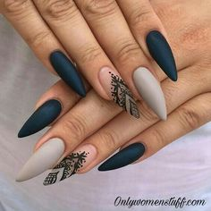 Ideas for long nails