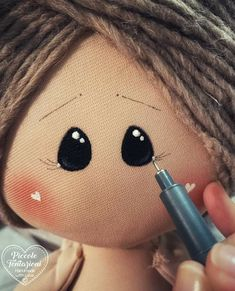 Doll Face Paint, Doll Painting, Doll Videos, Homemade Dolls, Broken Doll, Doll Eyes, Doll Tutorial, Doll Patterns, Henna Patterns