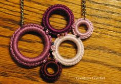 free pattern crochet ring necklace