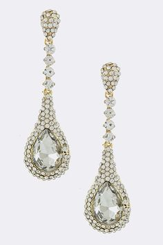 Vines of Jewels - Crystal Teardrop Dangle Earring (Silver-tone)- Stunning!, $22.00 (http://www.vinesofjewels.com/crystal-teardrop-dangle-earring-silver-tone-stunning/)