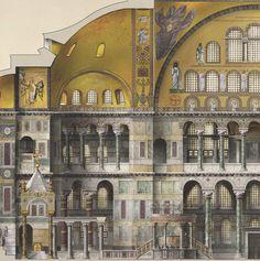 Detalle de Santa Sofía de Constantinopla .