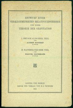Entwurf einer verallgemeierten Relativitätstheorie und einer Theorie der Gravitation. Offprint.