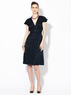 Marc by Marc Jacobs Carmen Silk Jacquard Sash Dress