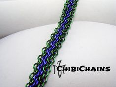 Bracelet - Oops or Euro 4 in 1 Bias 2 by Chibichains on DeviantArt #Chainmail #chainmaille #Euro4in1Bias #Oops #bracelet #Chibichains