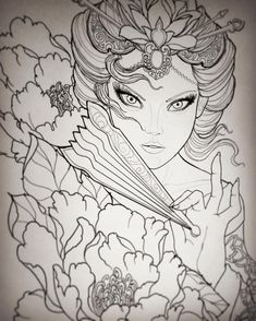 #geisha sketch #inkfiend #ifa2 Tatto Studio, Geisha Tattoo Design, Jason Kim, Japanese Mythology, Geisha Art, Gorgeous Tattoos, Future Tattoos, Doodle Art, Japanese Art
