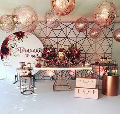 Beautiful And Romantic Bridal Shower Ideas - Bridal Shower Decorations, Birthday Party Decorations, Wedding Color Pallet, Popular Wedding Colors, Harvest Decorations, 40th Birthday Parties, Gold Party, Balloons, Baby Shower