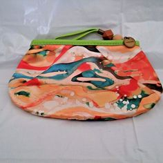 "Mary Kay Multi-Color Art of Nature Collection Zip Clutch Makeup Bag 8.75"" long #MaryKay"
