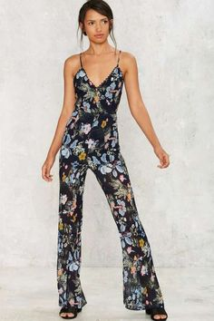 Factory Foxiedox Grown Woman Floral Jumpsuit