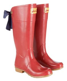 tom joules rain boots red bow | Evedon Womens Rain Boots | My Style | Pinterest