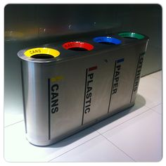 Saw this refuse organiser at #ChevronHouse. Totally love it. A must-have for every home. #decor #earth #environment #gogreen #green #home #interior #living #recycle #recycling