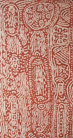 Lorna Brown Napanangka ---Sometimes when I look at these aboriginal paintings I wonder, did Keith Harring look at these and were they an influence on his art?