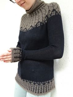liselottez's Qiviut & Cashmere Sweater and Beanie Fair Isle Knitting Patterns, Knitting Designs, Knitting Stitches, Knit Patterns, Hand Knitting, Wool Sweaters, Cashmere Sweaters, Nordic Sweater, How To Purl Knit