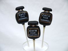 Chanel Cake Pops!  Cake by hellobabycakes
