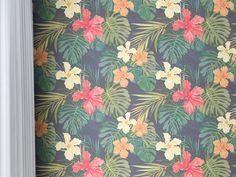 手绘热带雨林植物树叶墙纸V6
