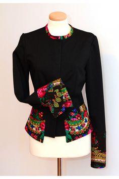 VENTE russe inspirée laine Veste Pavlovo fleur veste ethnique veste personnalisé veste Gypsy fleur
