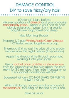 How I saved my fried hair, I made a nifty little graphic to help u!
