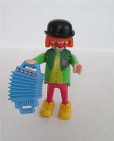 Playmobil Figure Vintage Clown with Accordian #3319 Circus #PLAYMOBIL