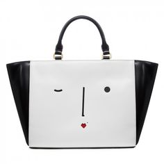 9c9d5eb1c0d Black   White New Face Cesca Tote Face Polish