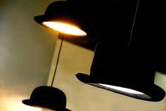 Suspension Wooster / Chapeau haut-de-forme Haut-de-forme - Noir / int. argent - Innermost