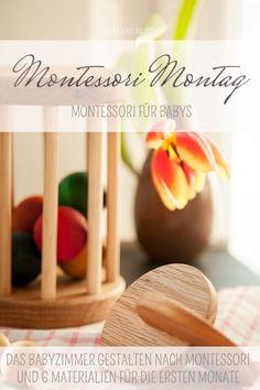 Montessori for baby materials for babies from zero to six months at Montessori Monday on mini and me Montessori Baby, Maria Montessori, Baby Room Design, Kids Corner, Kids Room, Kindergarten, Mini, Ber, 6 Months